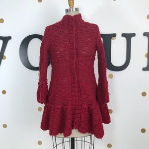 Free people M red knit sweater size M